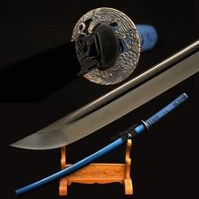 Black  Katana Sword Handmade Japanese Samurai Sword High Carbon Steel Alloy Tsuba Very Sharp Blade Battle Ready Custom