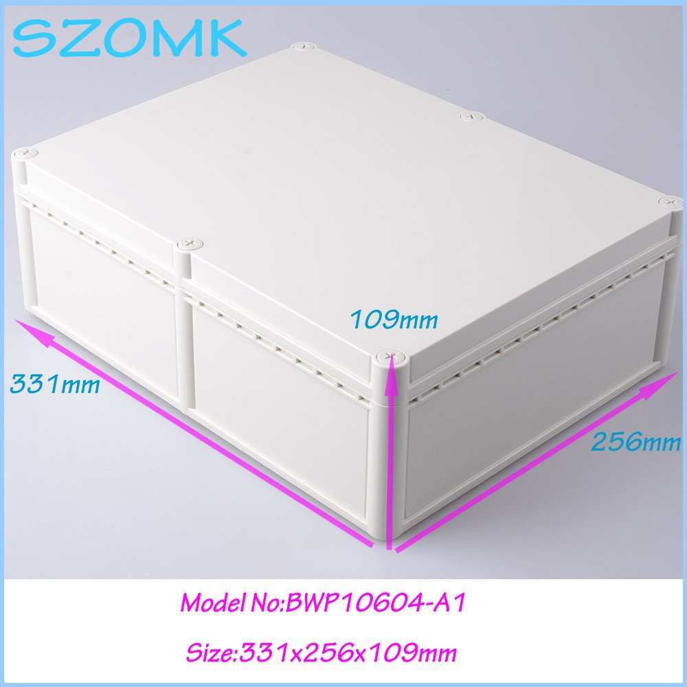 10 pcs/lot weatherproof plastic box plastic square box outdoor electrical junction box 331x256x109 mm