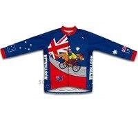 ילד אוסטרליה בני ג 'רזי רכיבה על אופניים אופני אופניים ארוכים שרוולי ג' רזי mtb mountaion clothing ילד חולצות רכיבה על אופניים ספורט