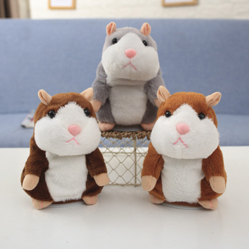 Cute Talking Hamster Toy Electric Pet Stuffed Plush Toys Sound Record Repeat Educational Toy Kids Christmas Gift Dropshipping