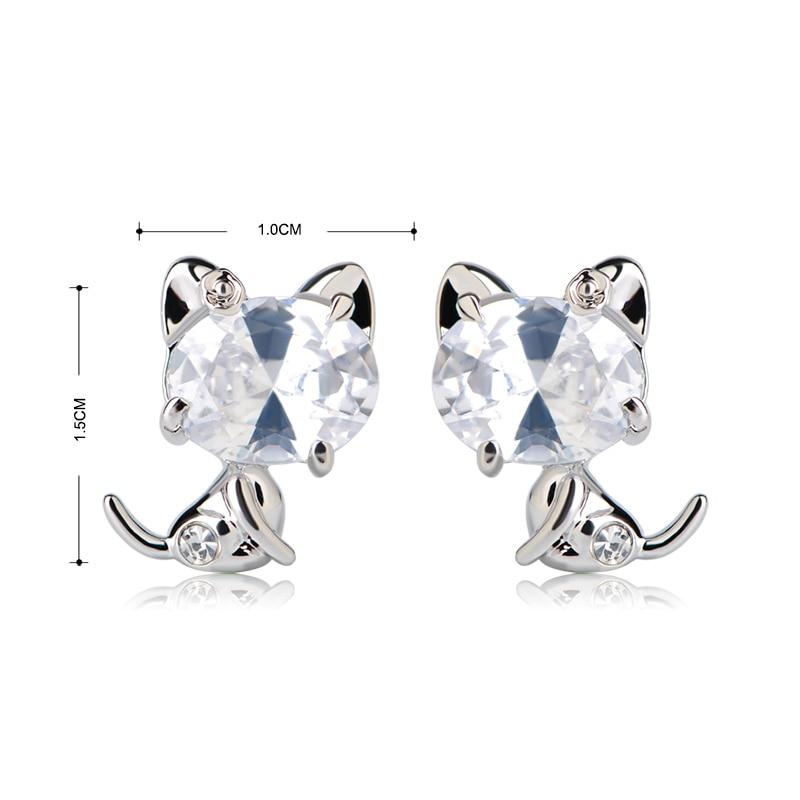 4 CT boucle d/'oreille brillant haut Zircone Cubique Best Synthétique Argent Massif une boucle d/'oreille