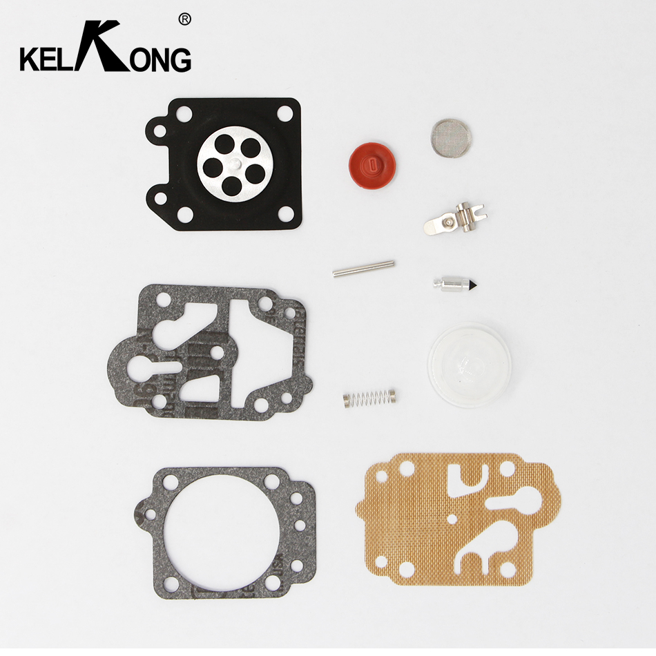 Carburetor Repair Kits With Primer Bulb For Brush Cutter CG260 CG330 CG430 CG520 GX35,40-5 43CC 52CC Chinese Trimmer Spare Parts 3set brush cutter carburetor gasket kit and primer bulb needle 40 5 44f 5 34f 36f 139f gx35 grass trimmer carburetor repair kit