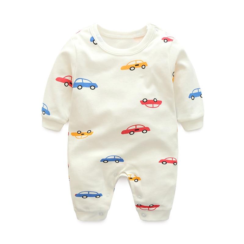 eca77b3b3 0-24M Cartoon Car new baby girl boy romper clothes jumpsuit onepiece ...