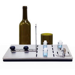 In Acciaio Inox Senza Intoppi Taglio Bottiglia di Vetro Cutter 2-10mm di Birra Vaso di Vino Macchina di Taglio Preciso FAI DA TE di Riciclo di Taglio tool Kit