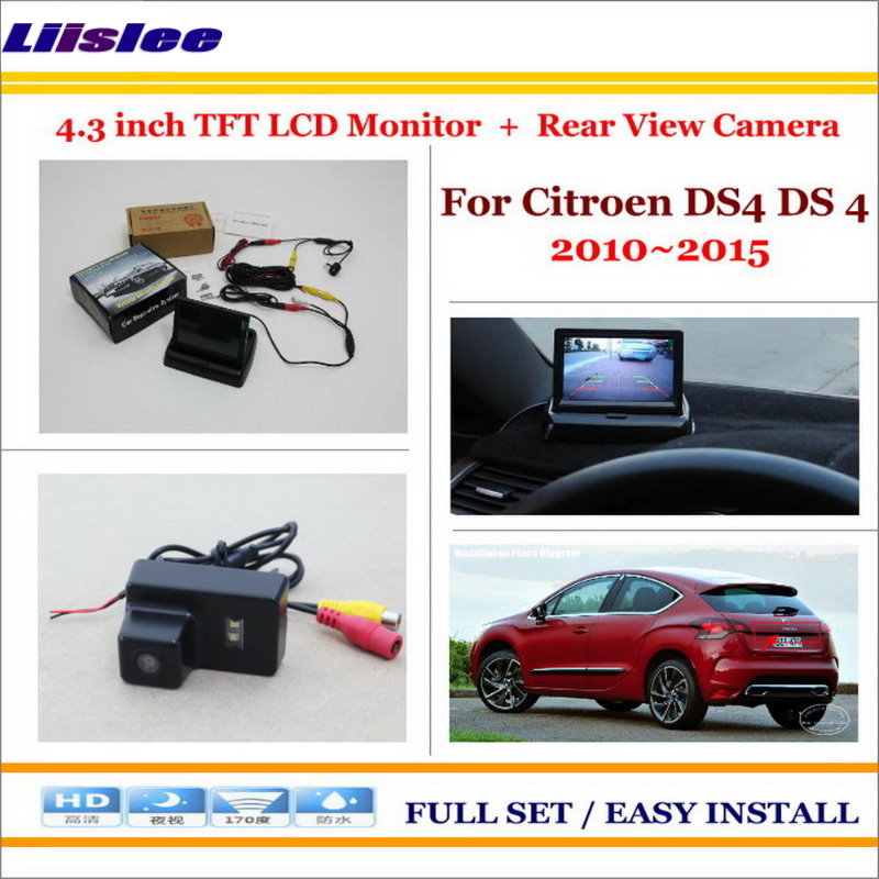 Liislee For Citroen DS4 DS 4 2010~2015 - Car Parking Camera + 4.3 LCD Monitor NTSC PAL = 2 in 1 Parking Rearview System