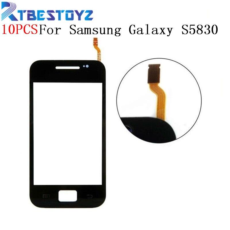 Rtbestoyz 10 шт./лот Сенсорный экран Сенсор для samsung Galaxy Ace S5830 S5830i GT S5830 окна Стекло сенсорный экран дигитайзера Запчасти