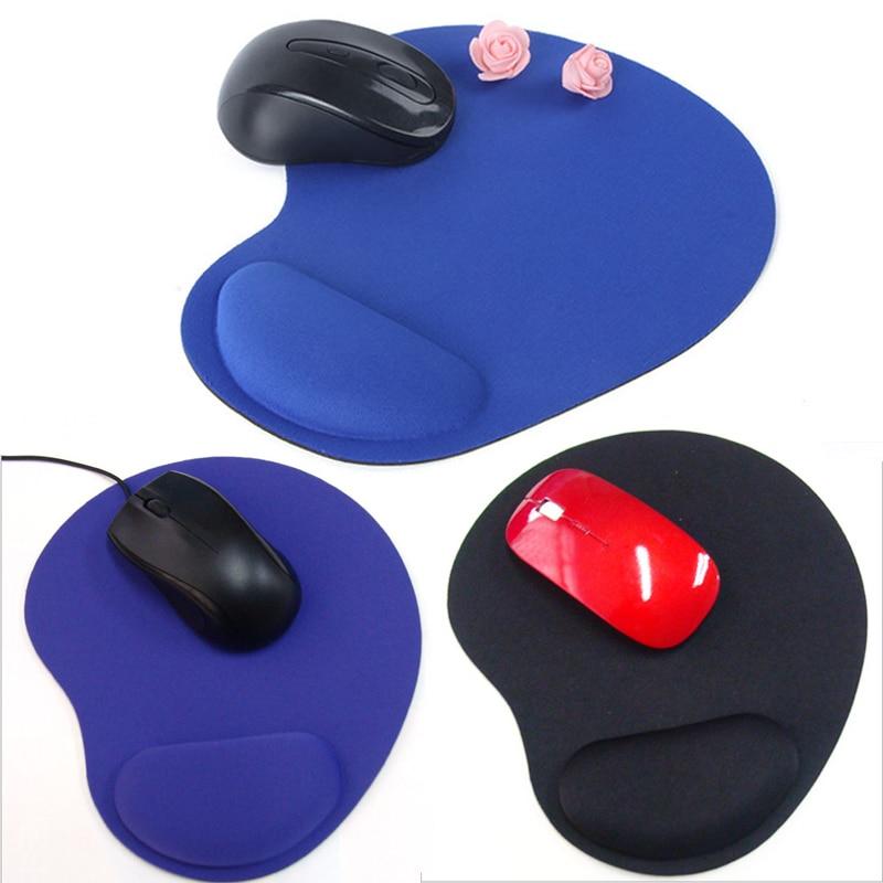Optical Black Comfort Wrist Rest Support Mat Mouse Mice Pad Computer PC Laptop Soft Free Shipping For Dota2 Diablo 3 CS Mousepad
