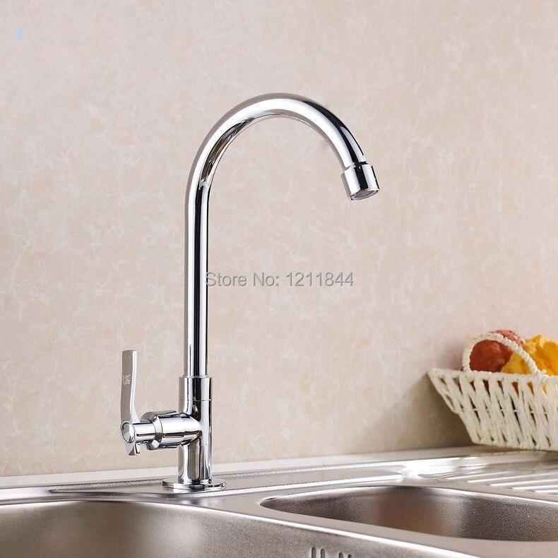 single cold pias para cozinha torneira misturadora de cozinha chrome brass faucet