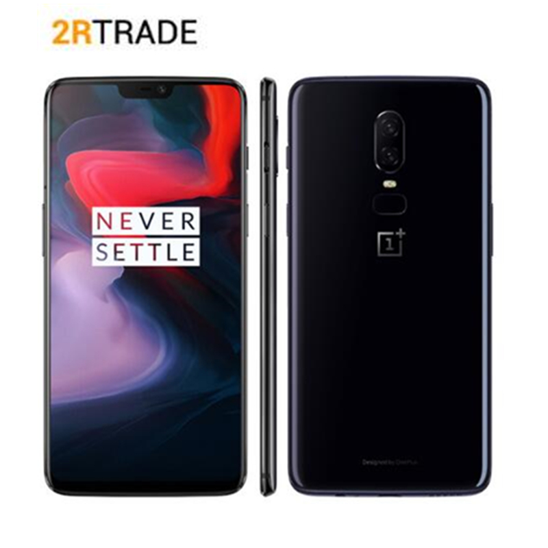 6.28 Oneplus 6 Snapdragon 845 Android 8.1 Cellphone 6GB/8GB RAM 64GB/128GB/256GB ROM Dual Cameras 20MP+16MP AI Global Firmware