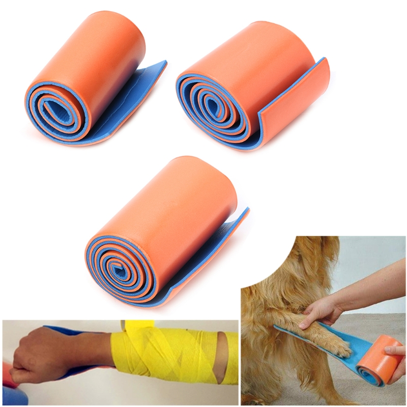 Reusable Medical Splint Roll First Aid EMT Bag Rolled Splint Outdoor Family Emergency Fracture Fixed For Neck,Leg,Arm Injuries