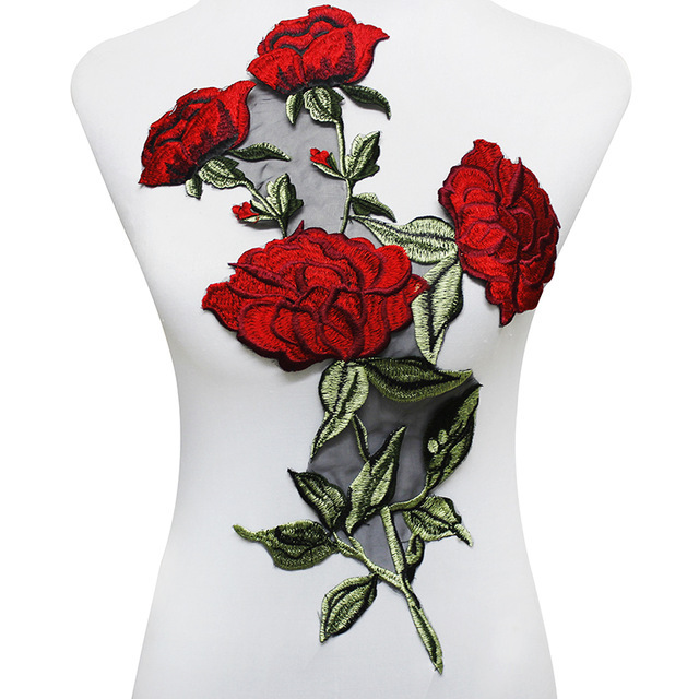 Aliexpress buy piece large rose embroidery patches