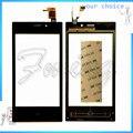 Com Número de Rastreamento Digitador Da Tela de Toque Do Telefone Para Highscreen Zera F rev. S Touchscreen Painel De Toque Sensor de Vidro + fita