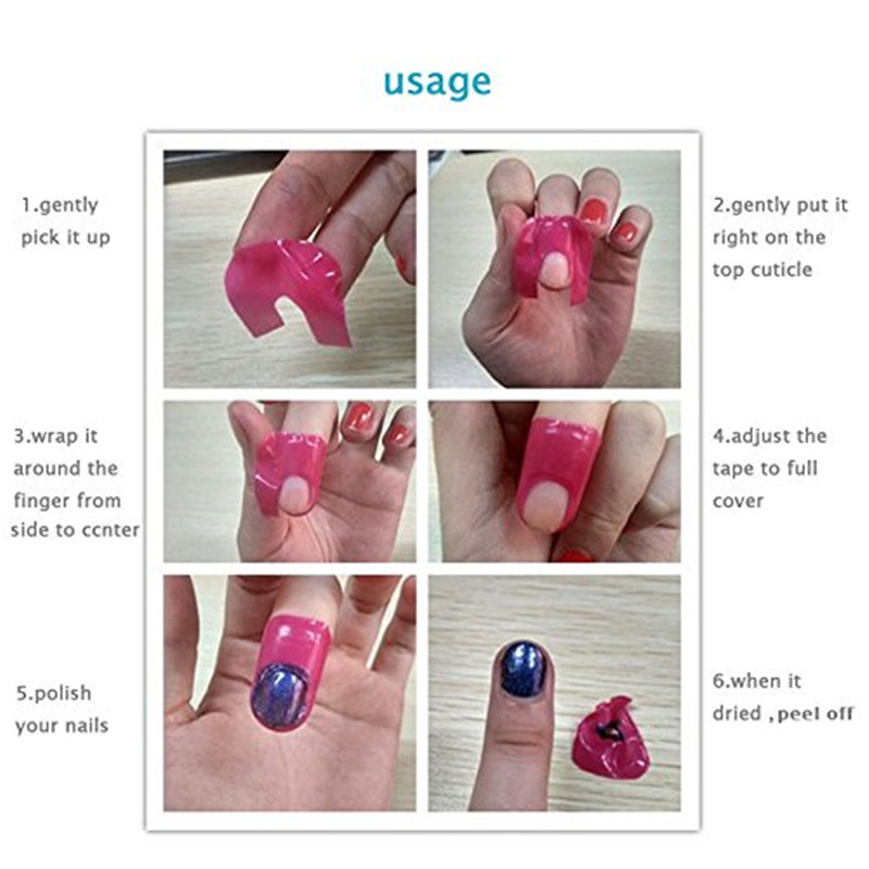 Mismxc Disposable L Off Tapes Cuticle Guard Skin Barrier Protector Nail Art Polish Uv Gel Palisade Manicure In Form From Beauty Health