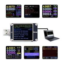 WEB U2 Misuratore di Corrente E Tensione Tester USB QC4 + PD3.0 2.0 PPS di Ricarica Veloce Protocollo di Test di Capacità