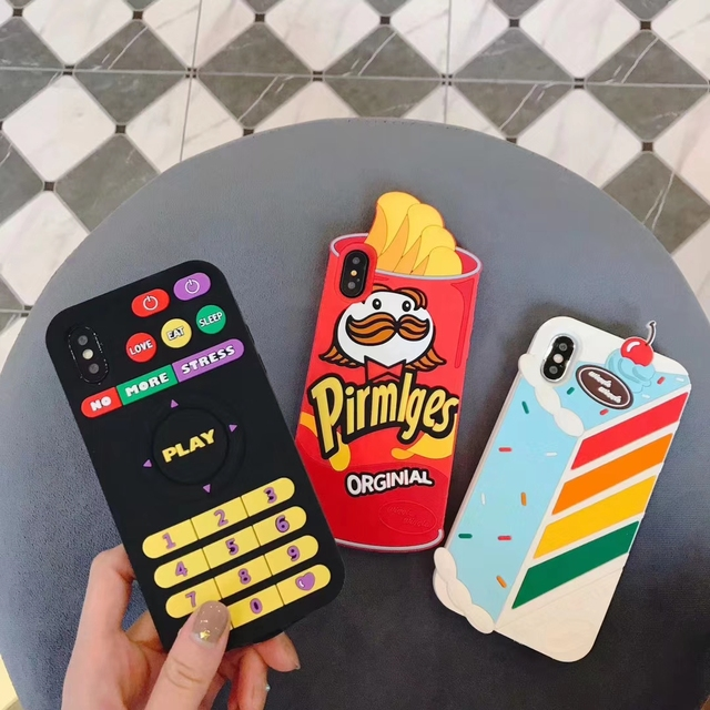 Cartoon Lovely Milk Silicon Case for iPhone