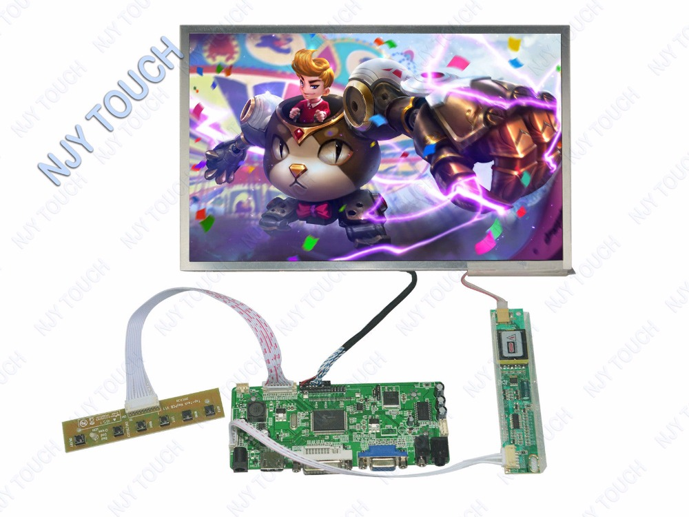 Raspberry Pi HDMI DVI VGA LCD Controller Baord kit plus 12.1inch LTN121AT02 1280x800 LCD Screen m nt68676 2a universal hdmi vga dvi audio lcd controller board for 14inch 1600x900 b140rw01 led monitor kit for raspberry pi