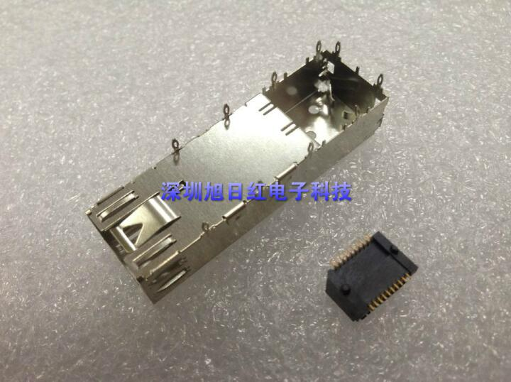 SFP Cage Pressure Type 1*1 20P Fiber Optic Interface Shield Housing Connector Seat