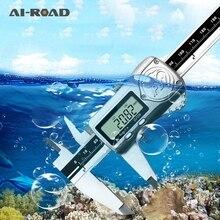 LCD Waterproof Digital Caliper 0-150mm 6 inch IP67 High Accuracy Oil-proof Digital Caliper + Box