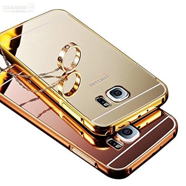 Para Samsung Galaxy S6 borde S7 borde S7 espejo caso de aluminio ...
