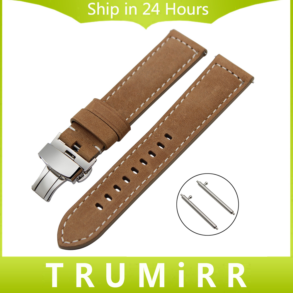Italian Genuine Leather Watchband 22mm Quick Release for Samsung Gear S3 Classic Frontier Watch Band Steel Buckle Wrist Strap 22mm genuine leather watchband tool for samsung gear s3 classic frontier watch band butterfly buckle strap wrist bracelet black