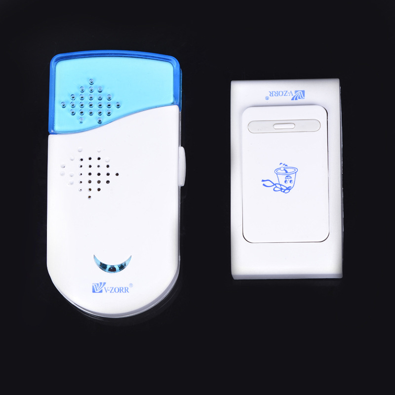 YobangSecurity Waterproof Wireless DoorBell Night Light Sensor Battery Power Smart Door Bell 1 Button 1 Receiver
