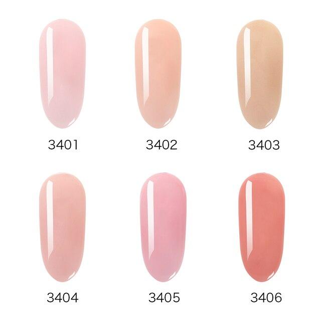 Elite99 Französisch Nude Gel Nagellack Nail art Tipps Gelee Farbe 10ml Hohe Qualität Tränken weg von Organische UV LED nagel Gel Lack Primer