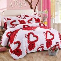 Neue 3d Red Liebe Bettwäsche Set Romantische Hochzeit Valentines Geschenk für Ihre 4 stücke Gehören Bettbezug Bettlaken Kissenbezug Freies verschiffen