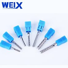 цена на WEIX UCHEER 1pcs 6mm Carbide Tungsten Corn Cutter cutting PCB milling end mill CNC router bits for Engraving machine