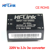 Free shipping 2 pcs/lot HLK PM03 220v 3.3V 3W AC DC isolated step down power supply module
