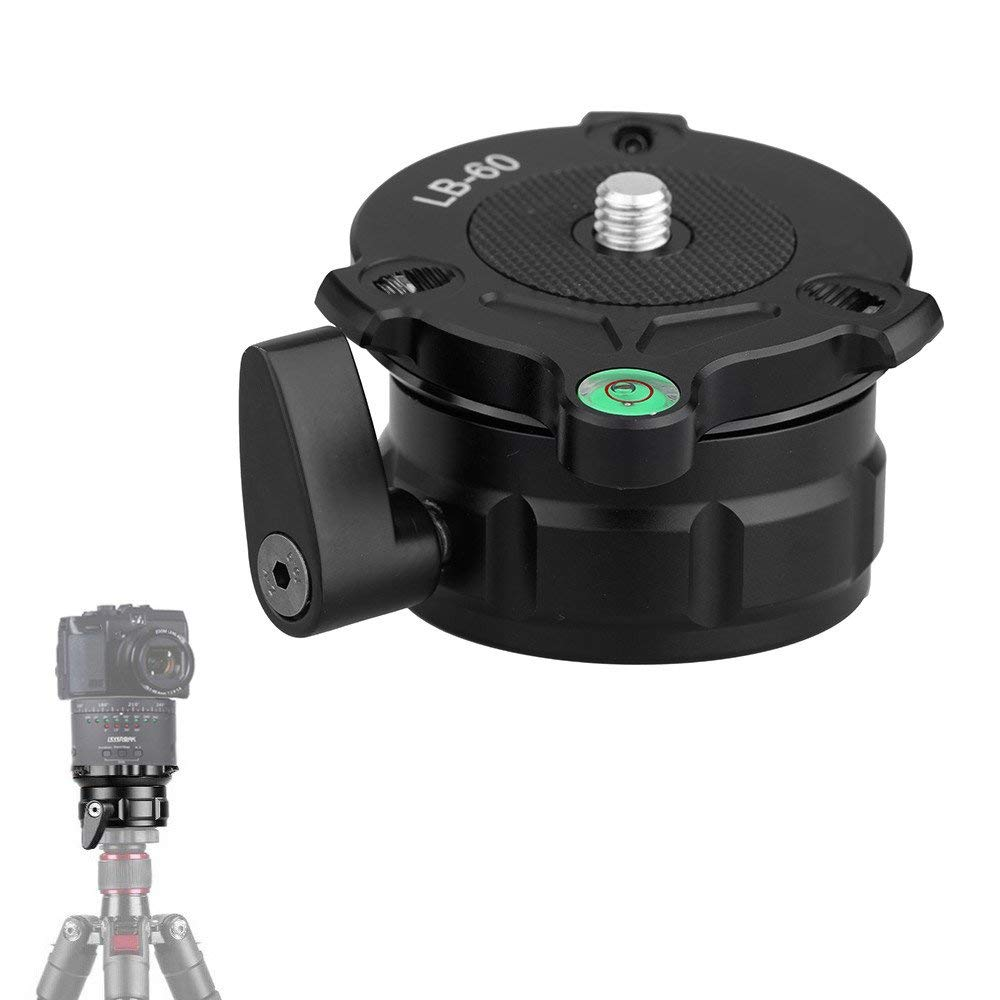 KINGJOY LB 60 69mm Speedy Adjustable Leveling Base Panning Level With Offset Bubble Level For All