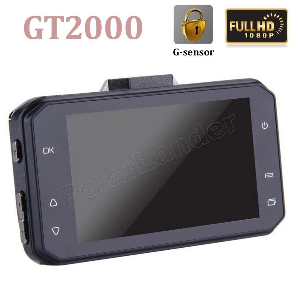 GT2000 Auto Registrator 3 inch Full HD 1080P Dash cam Car DVR 170 Degree H.264 Video G-Sensor Video Recorder Camera дефлектор auto h k gt 36964