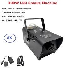 Wireless Remote Control LED 400W Fog Machine Stage Smoke RGB 3IN1 Fogger Dj Equipments Party Wedding Shows