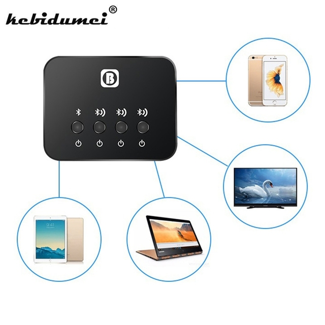 US $16 6 17% OFF kebidumeiNew Mini Optical Bluetooth Transmitter Aptx 1 to  3 Multi pair for TV Dual Link Wireless Music Audio Adapter for Speaker-in