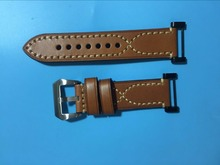 Replacement For Suunto Core Watch Strap Genuine leather +Stainless Buckle+PVD Adapters+Screwbars