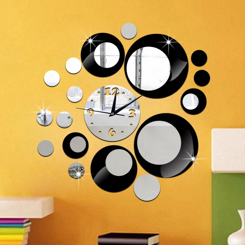 popular crystal wall clocks buy cheap crystal wall clocks lots hot sale 3d crystal lens three dimensional diy clock wall clock crystal ball combination living