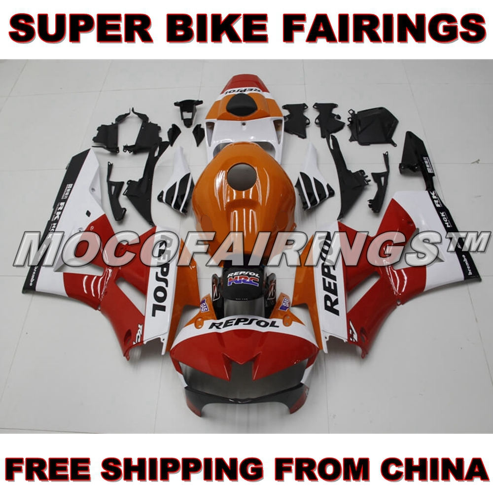 NEW REPSOL WHITE & RED CBR 600 RR 2013 2014 Motorcycle ABS Fairing Kit For HONDA CBR600RR F5 13 14 Injection Body Work custom injection factory motorcycle fairings parts for 2005 2006 honda f5 cbr 600 rr cbr600rr 05 06 white repsol fairing bodyits
