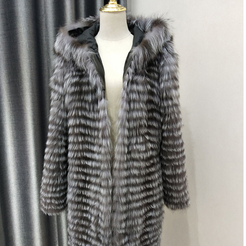 b2fcfd0f288 Buy silver fox fur coat and get free shipping on AliExpress.com