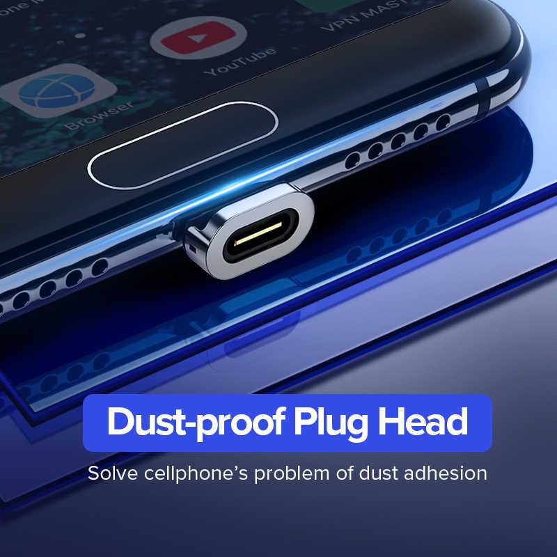 Ugreen USB مغناطيسي صغير كابل 2.4A شحن سريع كابل بيانات لسامسونج هواوي شاومي LG المغناطيس شاحن الهاتف المحمول سلك USB