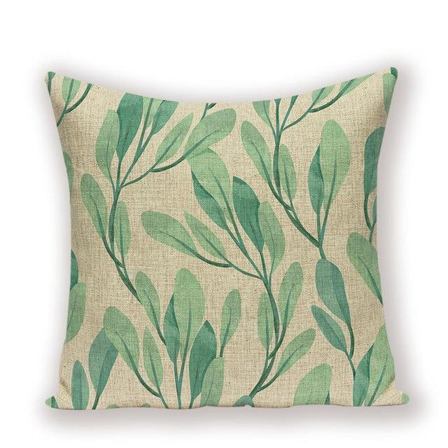 Cushion Cover Decorative Cushion Pillow Case Cover Sleeve 45x45 Jungle Green Decorative Pillow