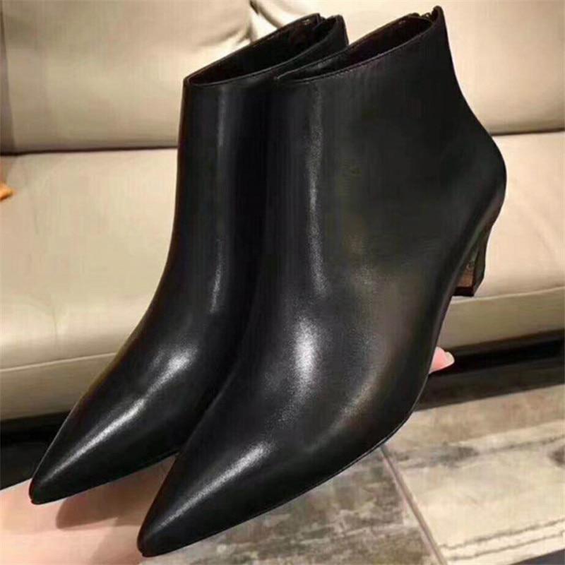 Mujer Femme As Bottes En as 2018 Chaussures Femmes Pointu Designer Inside fur Élégant Robe Botas Pic as Cuir Inside Pic Pic Feminina Botines D'hiver Bota Courte fur Zapatos 8twXxXqUd