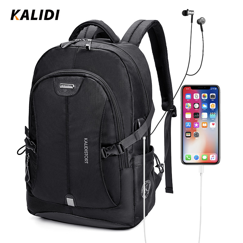 KALIDI Backpack Men School 17 Inch Laptop Backpacks Travel Bags Multifunction Notebook Backpack 15.6 17.3 Bagpack USB Charging