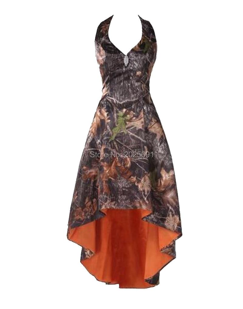 Echt Bild Fashion Camouflage Brautjungfer Kleider Plus Größe Halter ...