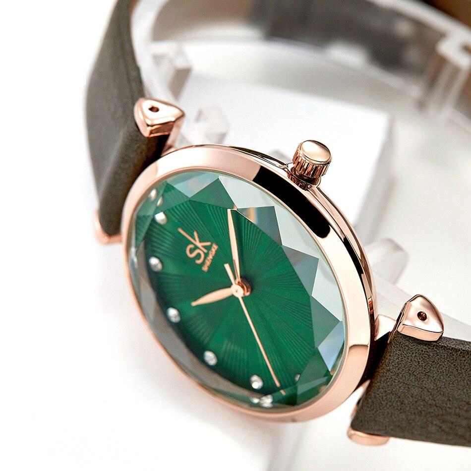 SK Luxury Brand Leather Ladies Wrist Watches Women Prism Quartz Watch For SHENGKE Female Clock reloj mujer 2019 relogio feminino (17)