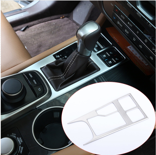 ABS Chrome Car Center Console Gear Shift Panel Sequin Cover Sticker For <font><b>Lexus</b></font> For <font><b>RX200t</b></font> 450h 2016 Interior <font><b>Accessories</b></font> image