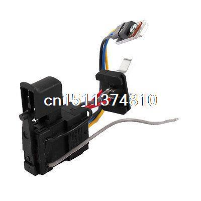 цена на DC 9.6-24V 12A Momentary Trigger Wired Switch Black for Electric Drill