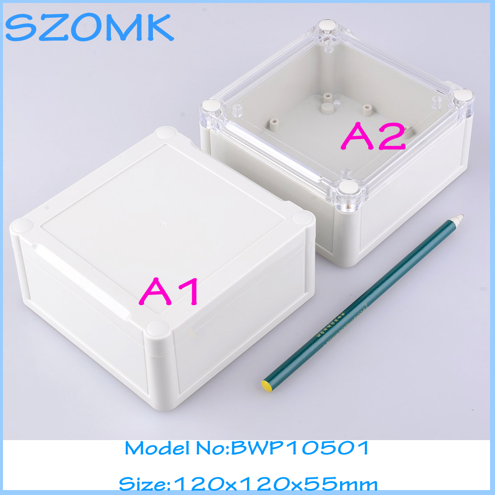 1 piece free shipping outdoor electrical junction box plastic case for electronic equipment IP 68 box 120x120x55 mm 1 piece free shipping outdoor electrical junction box plastic case for electronic equipment ip 68 box 120x120x55 mm