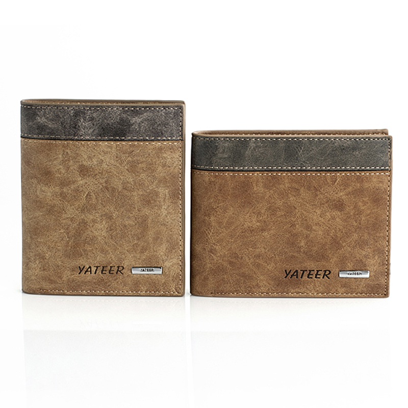 Elegant Student Men's Wallet Short Fund Leisure Time Matting Skin 3 Folds Thin Section Male Classic Credit Card Holder Wallets 2016 special wholesale male wallet wander settling anywhere a stall with spread out on ground short fund wallet ultrathin will