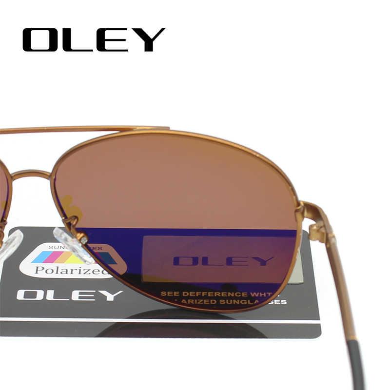 Мужские солнцезащитные очки OLEY, классические поляризационные очки-авиаторы, аксессуары для рыбалки, вождения, zonnebril mannen