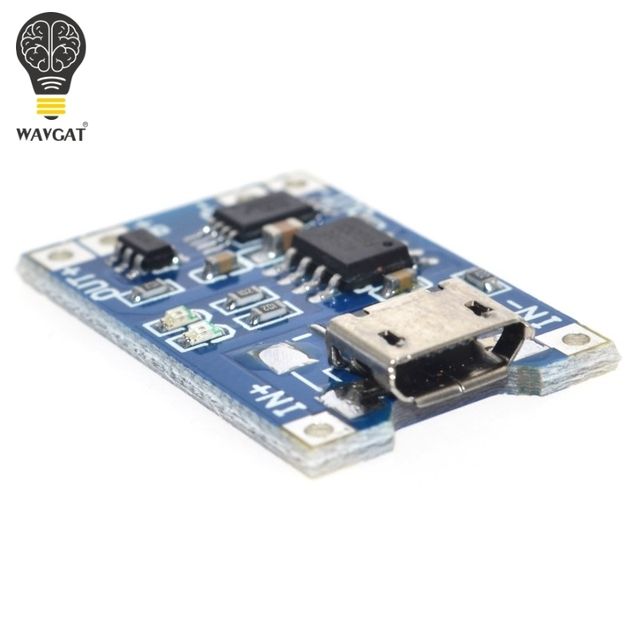 5 pcs Micro USB 5V 1A 18650 TP4056 Lithium Battery Charger Module Charging Board With Protection Dual Functions 1A Li-ion 3