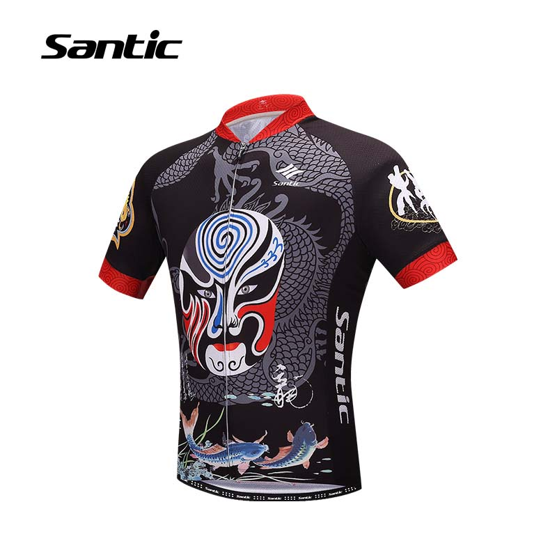 Santic Cycling Jersey Men Short Sleeve Breathable Quick Dry Cycling Clothing Road Mountain Bike Jersey Bicycle Clothes MTB Shirt otwzls cycling jersey 2018 set mountain bike clothing quick dry racing mtb bicycle clothes uniform cycling clothing bike kit